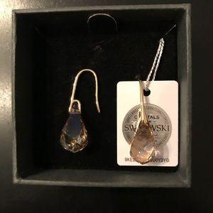 Nic & Syd Swarovski®/Gold Plated Amber Earrings